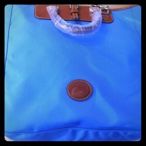 Dooney and Bourke Blue Editor's Tote